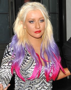 Britney Spears and Christina Aguilera Trial Dip-Dyed Hair. But Who Copied Who?