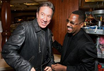 Tim Allen and Martin Lawrence at the Los Angeles premiere of Touchstone Pictures' Wild Hogs
