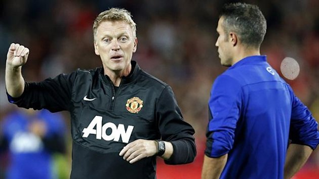 David Moyes and Robin van Persie (REUTERS)