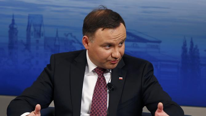 Poland's President Duda speaks at the Presidential debate at the Munich Security Conference in Munich