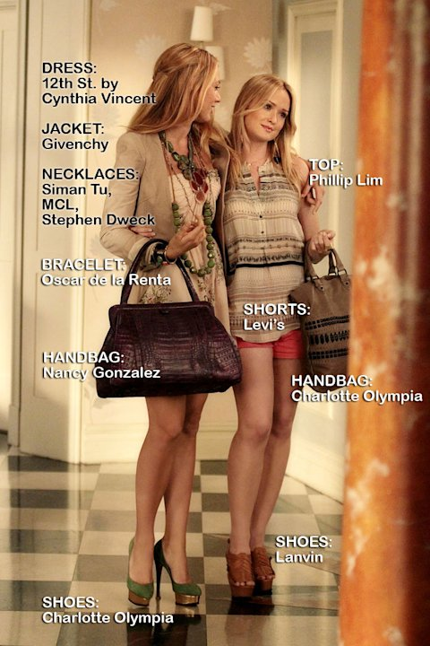 "Blake Lively as Serena van der Woodsen and Kaylee DeFer as Charlie Rhodes in the Season 5 episode ""The Jewel of Denial."" Gossip Girl"