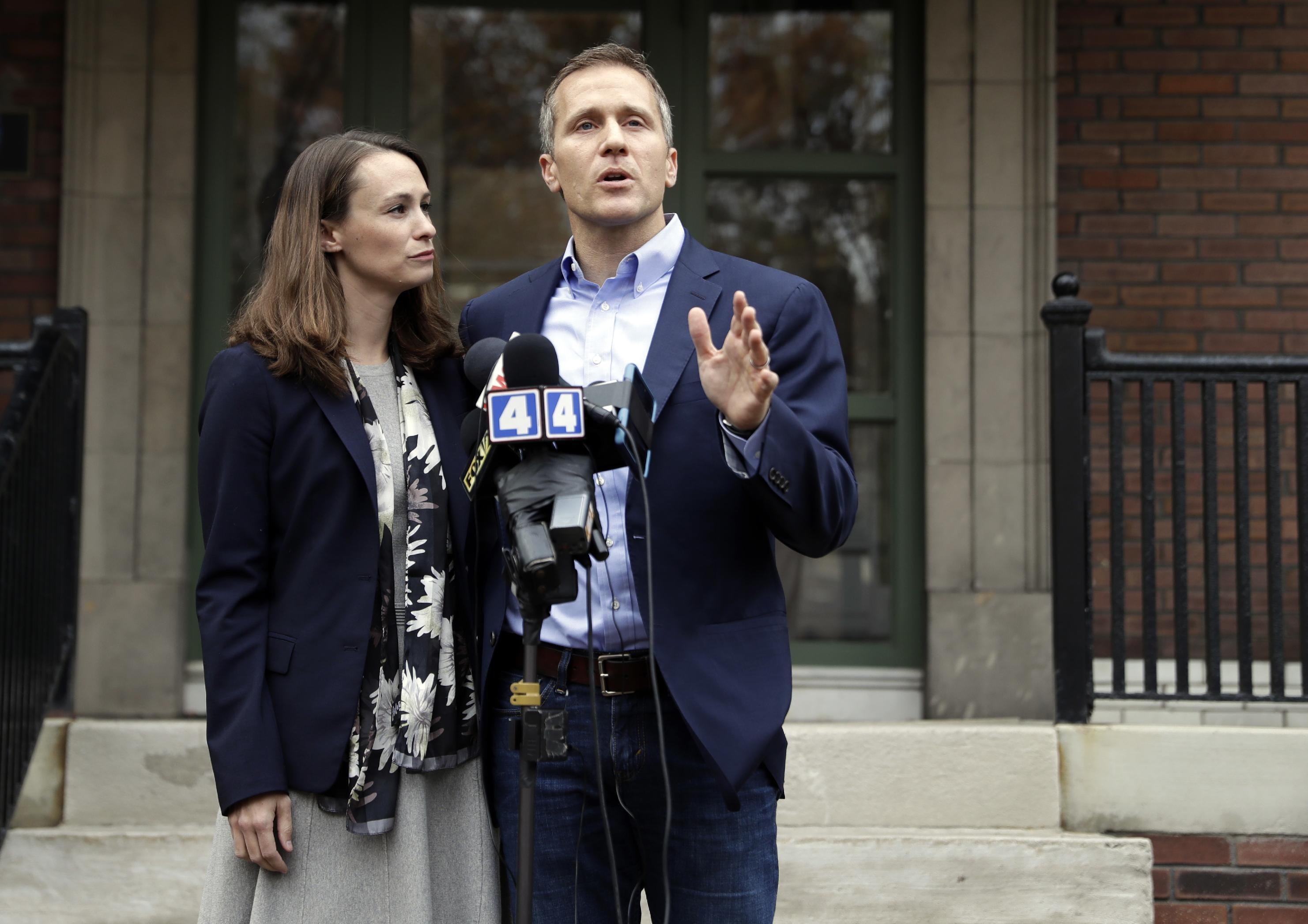 3 in custody in robbery of wife of Missouri governor-elect