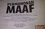 Christians and prostitution: Sinar Harian says sorry
