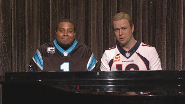 'SNL' Takes On Cam Newton Vs. Peyton Manning With This 'Ebony And Ivory' Sketch