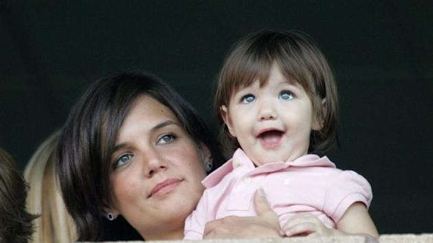 Mum and bub: Katie Holmes and Suri Cruise
