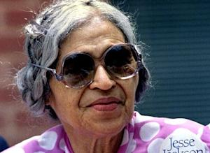 Rosa Parks in a 1988 file photo.