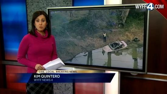 Two friends die when car flips over into pond