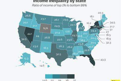This is how much you need to earn to join your state's top 1 percent