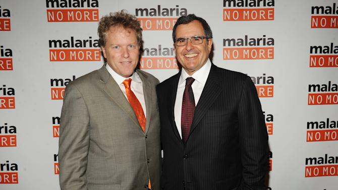IMAGE DISTRIBUTED FOR MALARIA NO MORE - CEO of Malaria No More David Bowen, left, and Co-Founder and Chairman Peter Chernin attend the 2012 Malaria No More International Honors on Thursday, Nov. 8, 2012 in New York. (Photo by Scott Gries/Invision for Malaria No More/AP Images)
