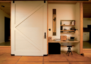 Giant barn door office