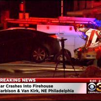 Car Crashes Into Northeast Philly Firehouse