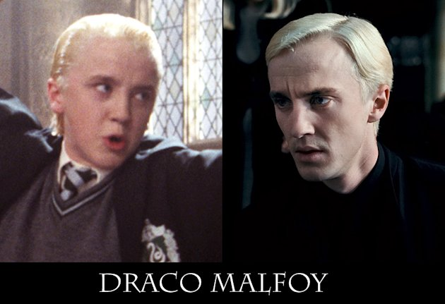Harry Potter Actors Through the Years 2010 Draco Tile