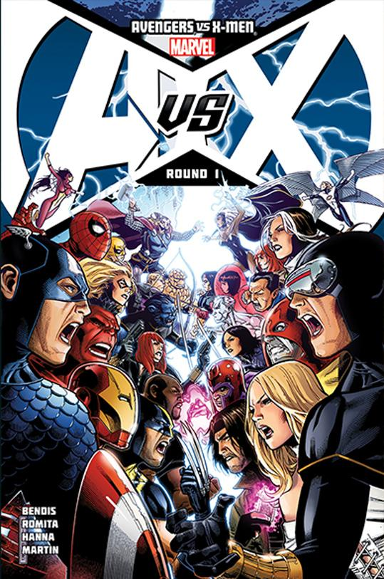 "This comic book cover image released by Marvel Entertainment shows ""Avengers Vs X-men #1."" The publisher of Marvel Comics is focusing on its panoply of characters, enlisting writers, artists, editors and historians to build a sprawling digital and interactive timeline that showcases the famous, the infamous and the obscure heroes, and villains. The endeavor is part of Marvel's celebration of its 75th anniversary to make people aware of more than marquee names like Captain America or Spider-Man, and to appeal to site visitors coming from the cinema or cataloging a comic collection in the basement. (AP Photo/Marvel Entertainment)"