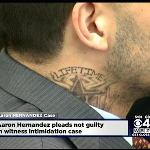 Aaron Hernandez Returns To Court Sporting New 'Lifetime' Tattoo