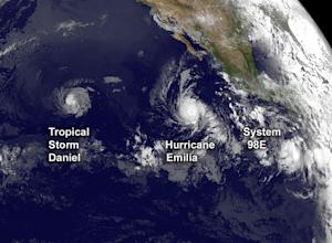 Satellite Sees 3 Storms Swirling Across Pacific Ocean