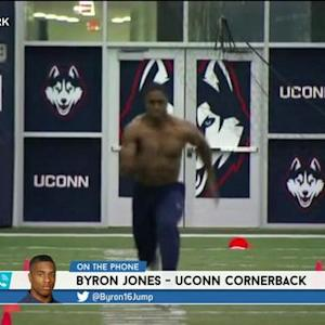 RES: University of Connecticut cornerback Byron Jones talks pro day and injury recovery