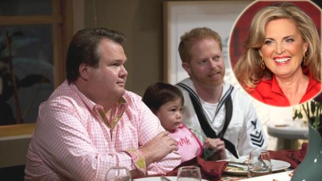 Eric Stonestreet and Jesse Tyler Ferguson in a scene from 'Modern Family'; inset: Ann Romney -- ABC