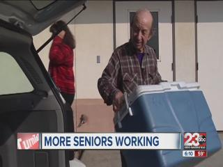 More seniors joining the workforce
