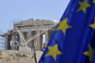 &lt;p&gt;An EU flag flies in front of the ancient Acropolis in Athens in May 2012. The chief executive of Greece&#39;s privatisation fund has resigned, his office said on Friday, citing a lack of government support, planning delays and forecasting paltry asset sales this year.&lt;/p&gt;