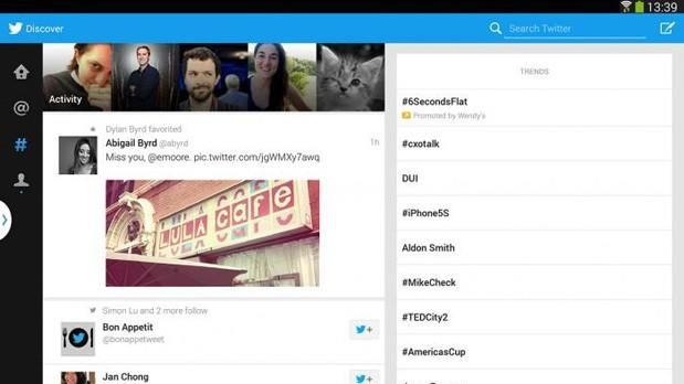 Twitter's tabletoptimized Android app is now official, but limited to Samsung devices
