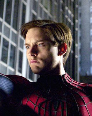 Tobey Maguire as Spider-Man in Columbia Pictures' Spider-Man 2