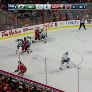Kari Lehtonen Save on Kris Russell (16:44/1st)