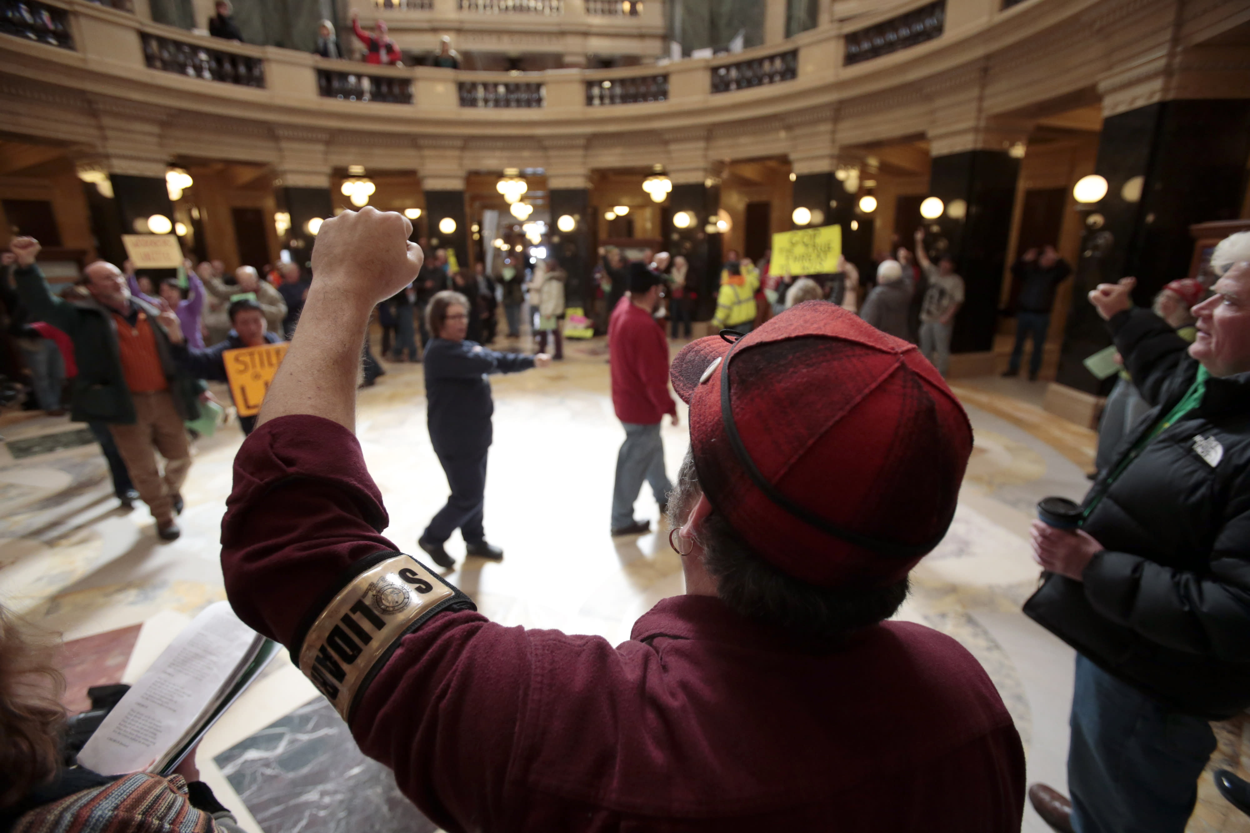 Union members speak out against right-to-work in Wisconsin