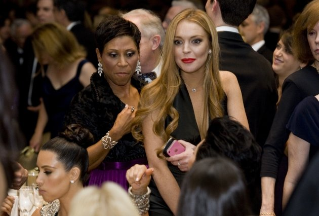 Lindsay Lohan and her attorney Shawn Chapman Holley at the 2012 White House Correspondents&#39; Association Dinner held at the Washington Hilton in Washington, D.C. on April 28, 2012 -- Getty Images