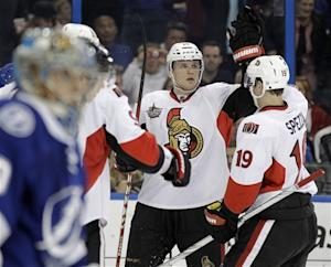 Michalek has 3 goals as Ottawa beats Tampa Bay