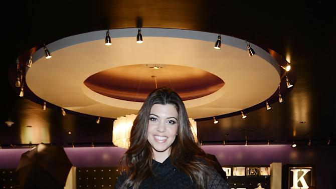 Kourtney Kardashian Visits Kardashian Khaos At The Mirage Hotel & Casino