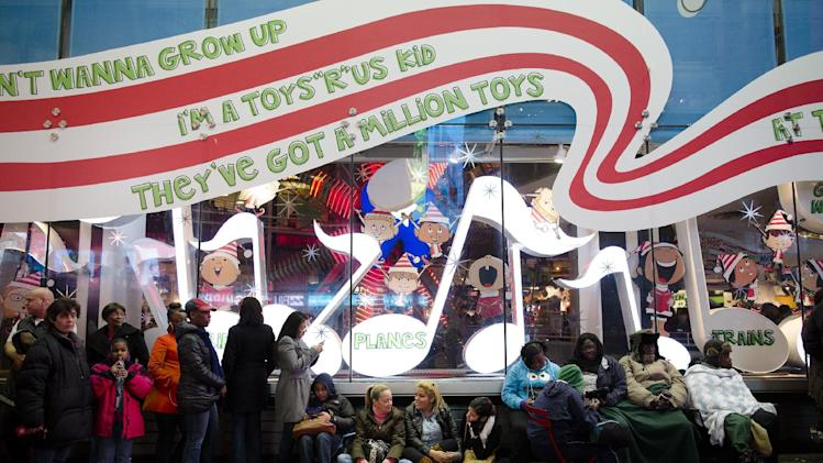 of the Times Square Toys-R-Us store in the lead-up to Black Friday ...