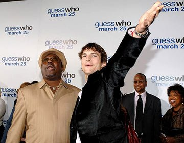Premiere: Bernie Mac and Ashton Kutcher at the Hollywood premiere of Columbia Pictures' Guess Who - 3/13/2005