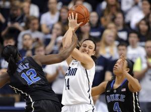 Strong 2nd half lifts UConn women to rout of Duke