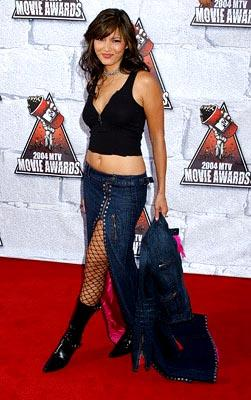 Kelly Hu, star of Surf Ninjas. MTV Movie Awards - 6/5/2004