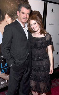 Premiere: Pierce Brosnan and Julianne Moore at the New York premiere of New Line's Laws of Attraction - 4/22/2004