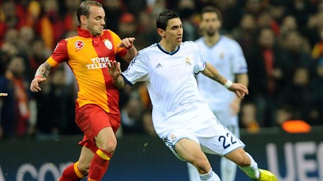 Angel Di Maria in action for Real Madrid against Galatasaray (AFP)