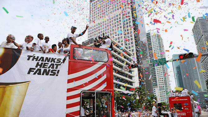 Miami Heat Victory Parade And Rally