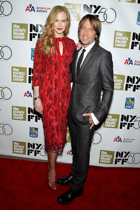 "This image released by Starpix shows actress and honoree Nicole Kidman, left, and her husband Keith Urban at a gala by The Film Society of Lincoln Center following by the premiere of  her film, ""The P"