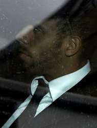 QPR's Anton Ferdinand leaves the FA headquarters at Wembley Stadium on September 24, after the first day of John Terry's disciplinary hearing. Terry has always denied using a racist slur against Ferdinand