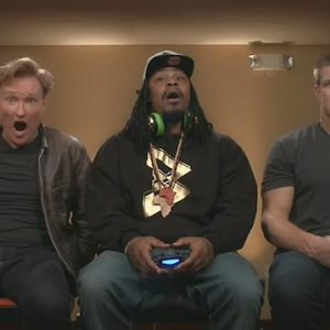 Gronk and Marshawn Lynch Play 'Mortal Kombat' With Conan