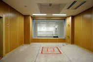 This file photo shows an execution room at the Tokyo detention house, in 2010. A court rejected an appeal by a farmer who has spent 40 years on death row for the murder of his wife, his mistress and three other women who died after drinking poisoned wine in rural Japan