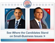 Election 2012 - See where President Obama and Romney stand on Small Business Issues