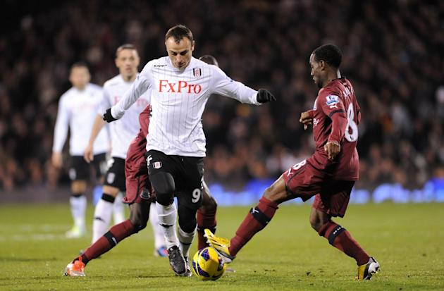 Dimitar Berbatov, left, earned praise from both managers on Monday night