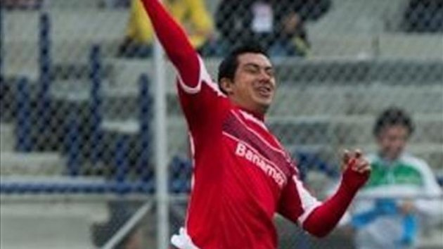 Substitute Juan Carlos Cacho scored a third goal for Toluca (AFP)