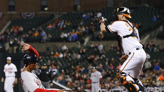 Red Sox use 14-hit attack to beat Orioles 4-3