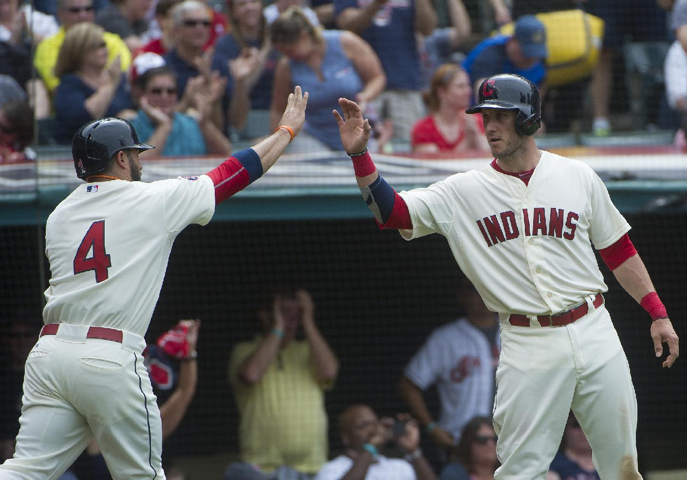 Indians' win streak reaches 6 games, Reds' skid hits 8
