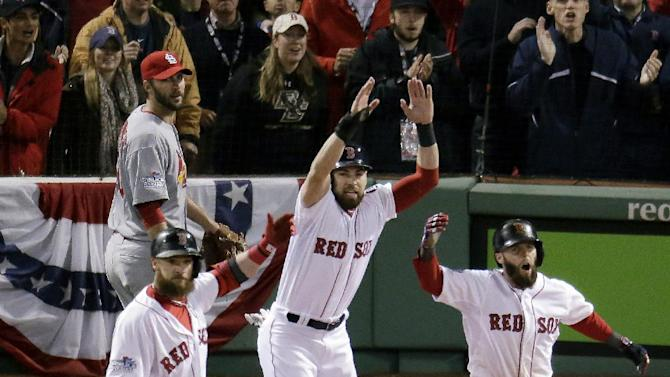Lester, Red Sox rout sloppy Cards in Series opener