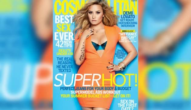 Demi Lovato on the August 2013 cover of Cosmopolitan -- Cosmopolitan