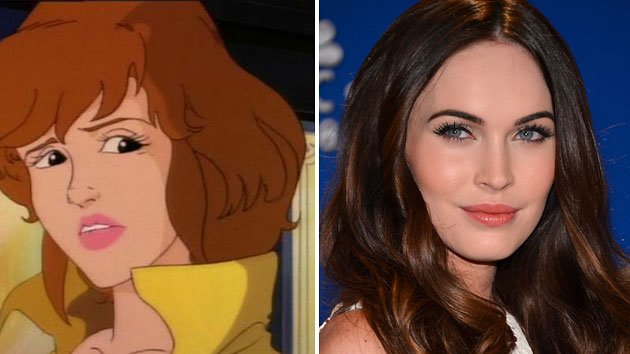 April O'Neil from 'Teenage Mutant Ninja Turtles' and Megan Fox