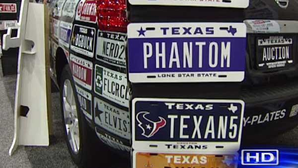 Specialty license plate auction to send Texas more cash
